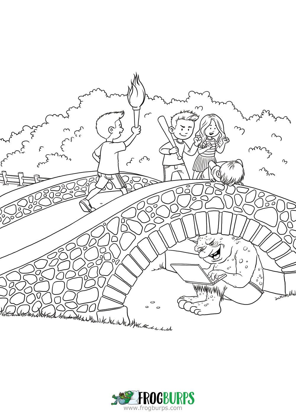 Where The Trolls Are | Coloring Page