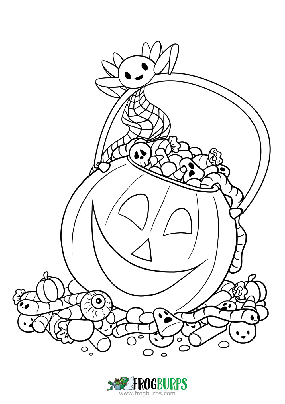 Halloween Candy | Coloring Page