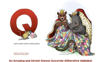 """Creating the illustration for """"Q"""" in the Alliterative Alphabet"""