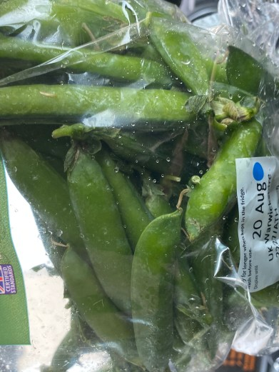 Bag of pea pods