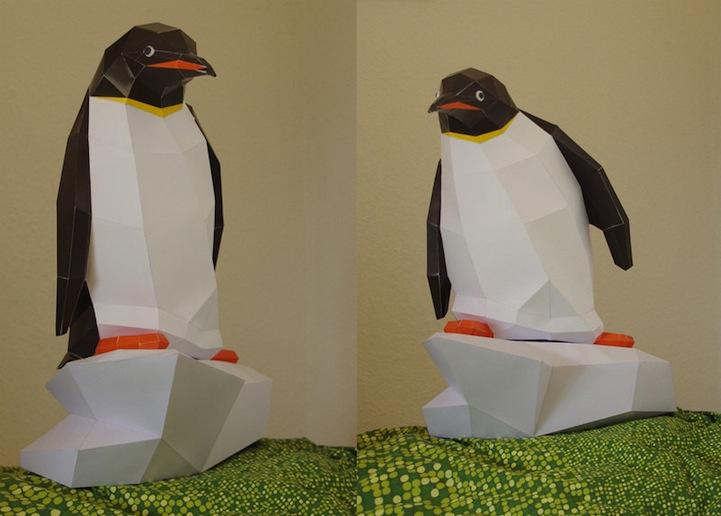 Animales Hechos Con Papel En 3D Por Wolfram Kampffmeyer