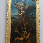 Photograph of the painting of St. Michael slaying the demon by Raffaello Santi.