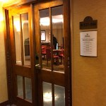 Double door entrance to the executive business lounge.