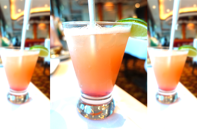 Photo of a mixed drink from Chops Grille on Royal Caribbean Enchantment of the Seas cruise ship by Frolic & Courage.