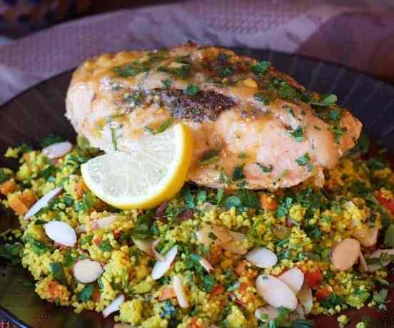 Chicken Marrakech with Jeweled Couscous