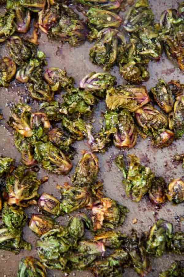 Balsamic-Roasted Kale Sprouts
