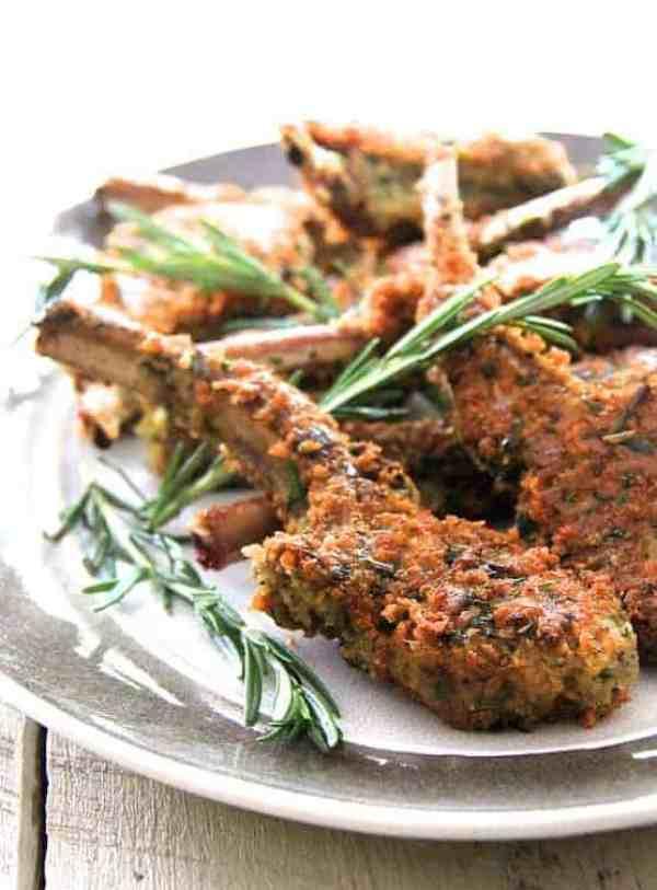 Parmesan and Herb Crusted Lamb Chops
