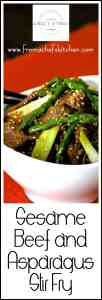 Sesame Beef and Asparagus Stir Fry is easy to pull together when the Asian food craving hits!