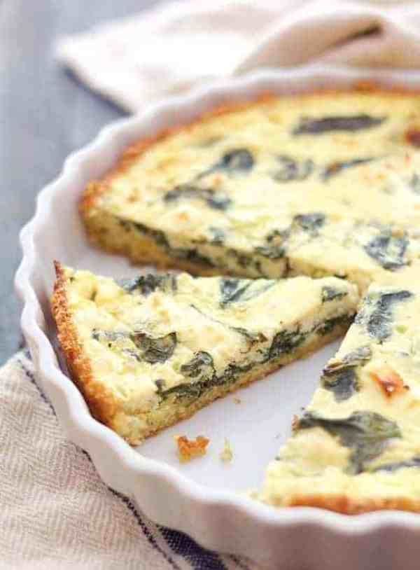 Spinach and Feta Quiche with Quinoa Crust