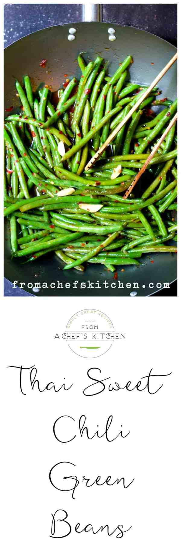 Thai Sweet Chili Green Beans are a delicious new way to enjoy green beans. They will rock your vegetable world!