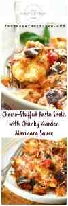 Cheese-Stuffed Pasta Shells with Chunky Garden Marinara Sauce