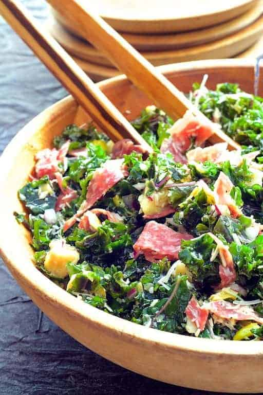 Massaged Kale Antipasto Salad
