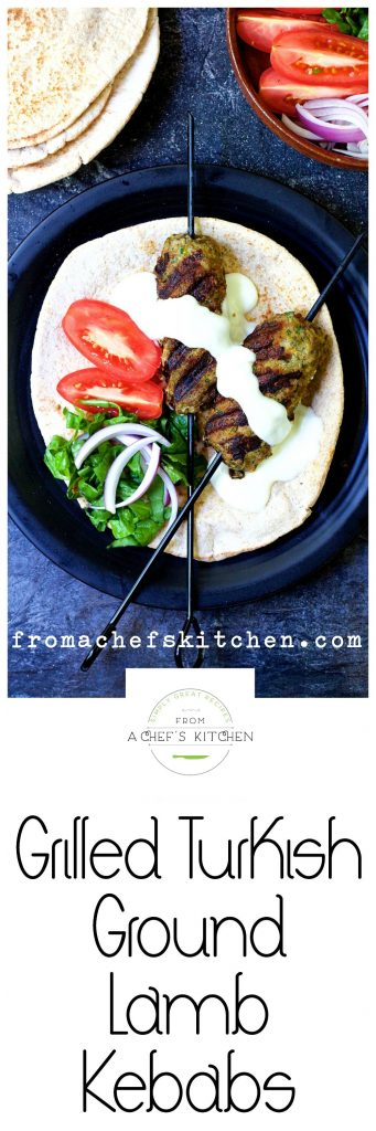 Change up your grilling routine with easy and flavorful Grilled Turkish Ground Lamb Kebabs