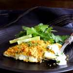 Curried Chickpea Encrusted Barramundi with Jalapeno Lime Tartar Sauce