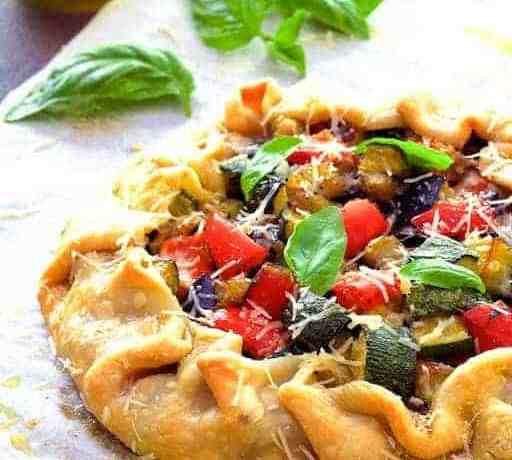 Mediterranean Roasted Vegetable Galette