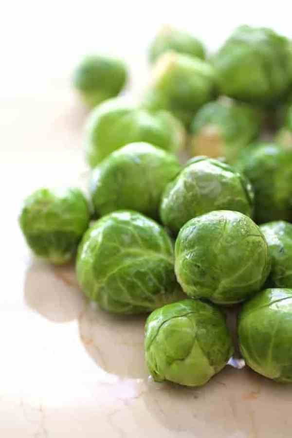 Close-up shot of Brussels sprouts