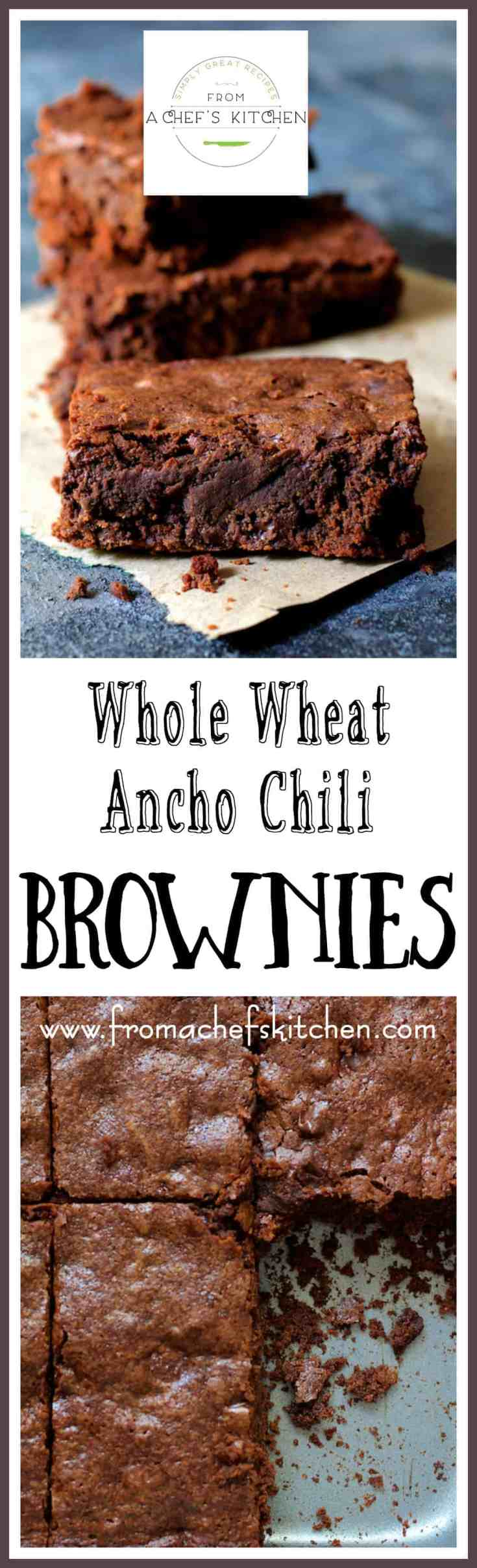 Whole Wheat Ancho Chili Brownies are intensely chocolatey but also pack a little heat with a touch of smokiness for a seriously delicious combination! #OrganicMoments #paidad #sponsored #ad