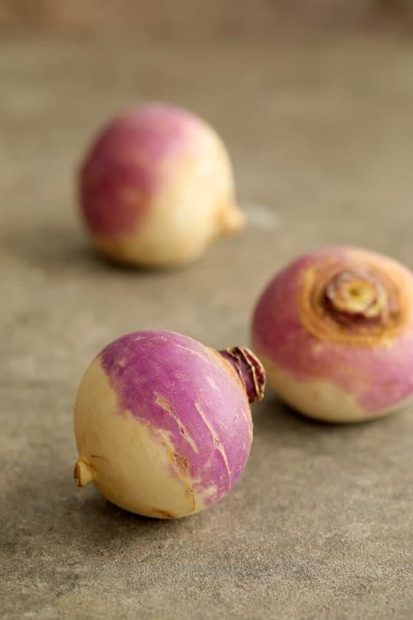 Parmesan Crusted Crushed Turnips - Whole turnips