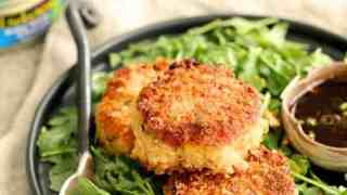 Thai Salmon Cakes with Basil Lime Mayonnaise - From A Chef's
