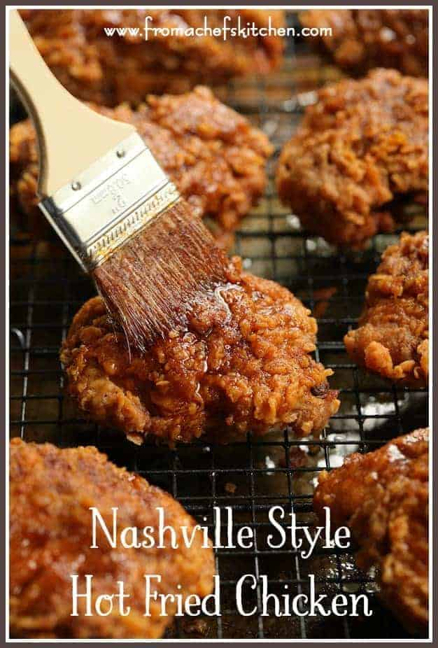 Nashville Style Hot Fried Chicken is famous for its spiciness! One bite and you'll be hooked! It will become your favorite fried chicken indulgence for dinner or your next picnic!