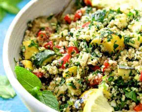 Quinoa Tabbouleh with Grilled Vegetables