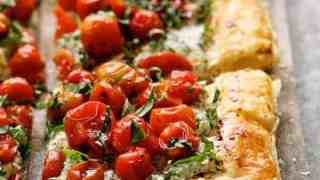 Roasted Cherry Tomato Tart with Herbed Ricotta