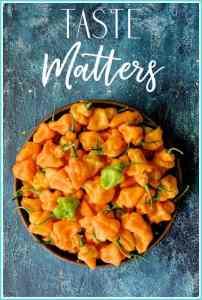 Taste Matters Cover - Bowl of Habaneros