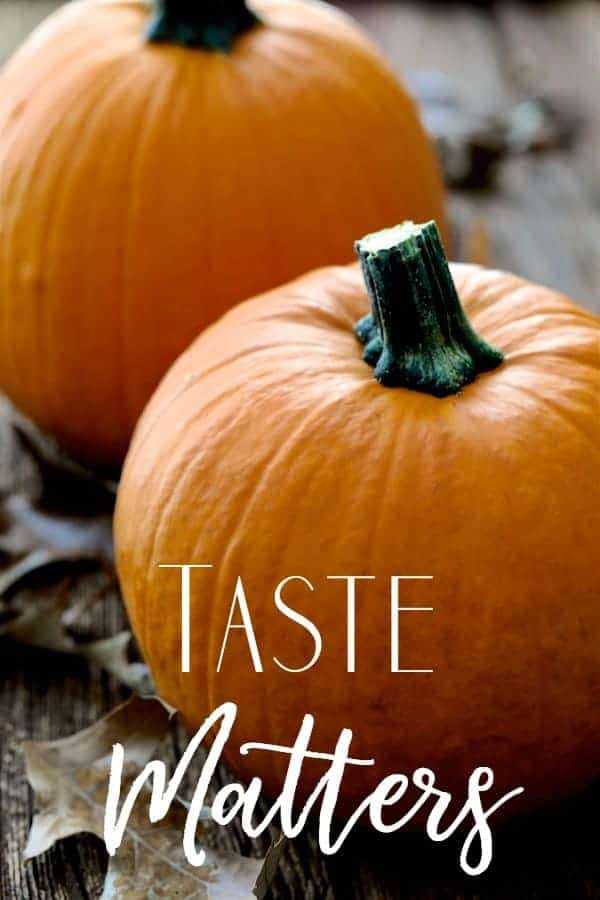 Taste Matters Cover with Pumpkins