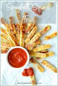 Spaghetti Squash Fries are the perfect snack or side dish for kids of all ages! Made with a fun vegetable--Spaghetti Squash Fries are simply delicious--and addictive!