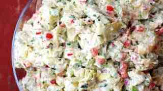 Potato Artichoke Salad with Horseradish Dressing