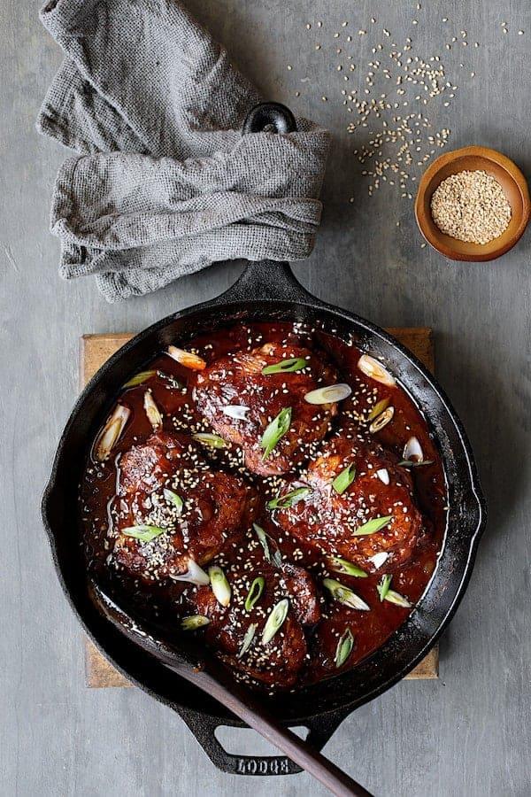 Korean Braised Chicken Thighs