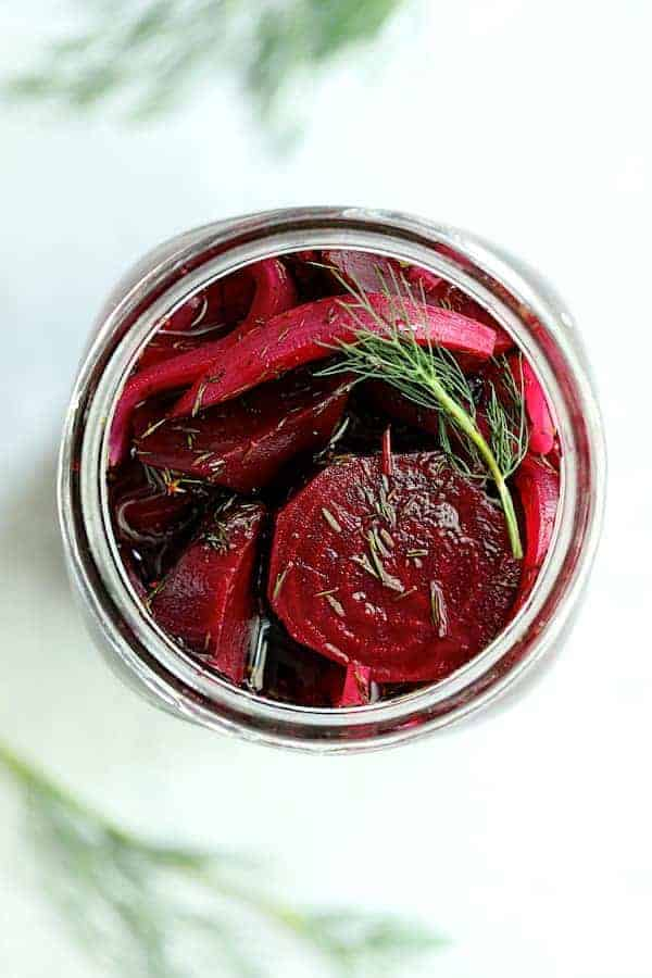 Quick Pickled Beets with Dill