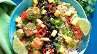 Cuban Chicken and Black Bean - Quinoa Bowls