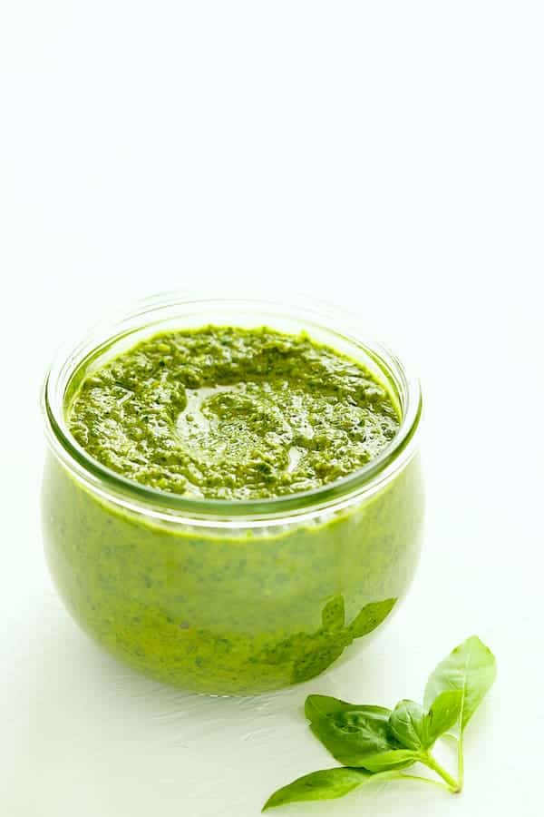 Spicy Basil Chimichurri in glass jar
