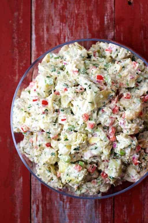 Potato - Artichoke Salad with Horseradish Dressing