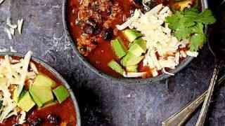 Turkey Black Bean and Quinoa Chili