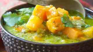 Butternut Squash in Fresh Green Curry