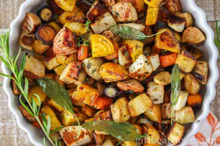 Roasted Root Vegetables Recipe {with herbs}