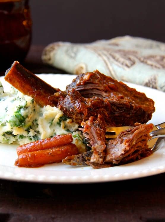 Stout Braised Beef Short Ribs and Colcannon