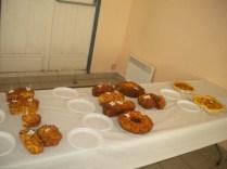 Brioches salés et sucrées, et tartes