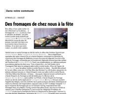 L'Avenir : Concours des fromages de Wallonie - Harzé 2014