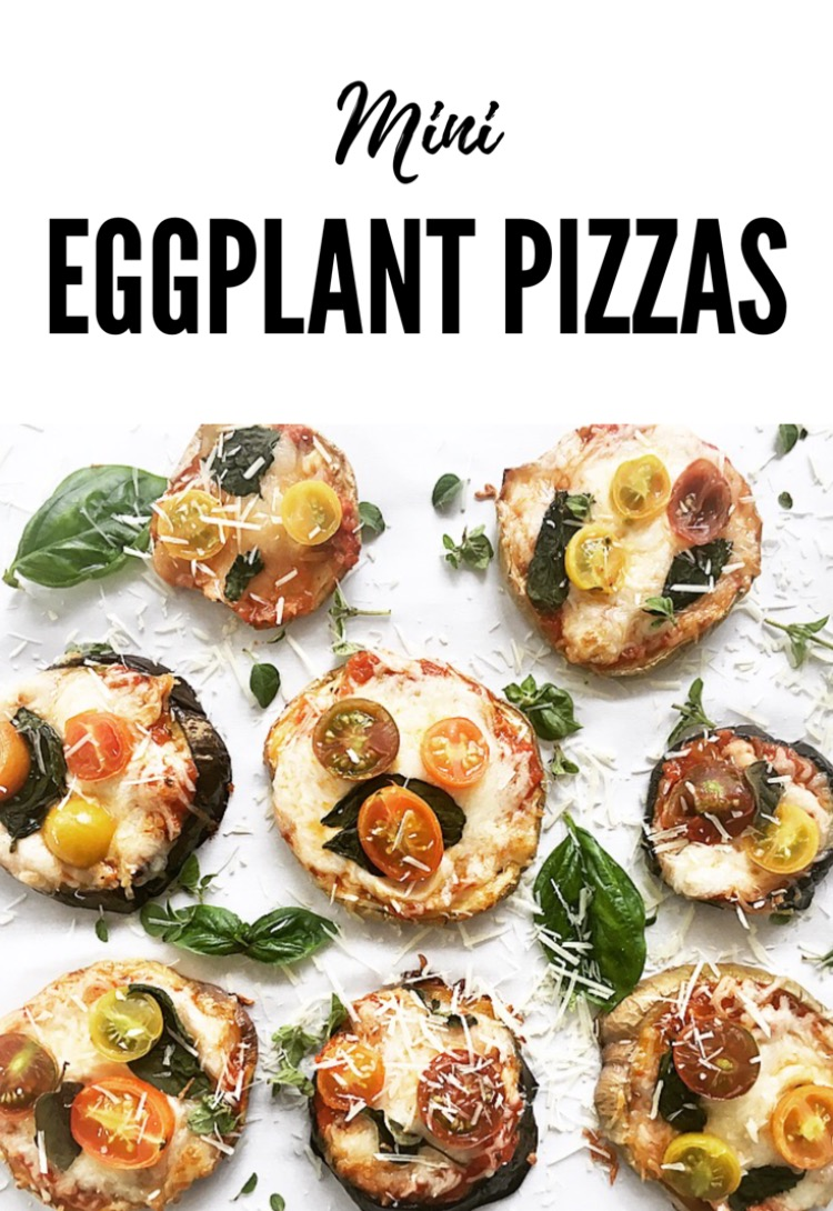Quick and easy little eggplant pizzas from From A to Zucchini.