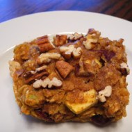 Pumpkin, Cranberry, and Apple Baked Oatmeal
