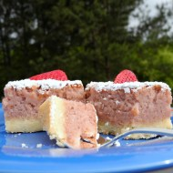 Strawberry Bars for National Strawberry Month