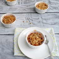 Peach Crumble for Two, Two Ways