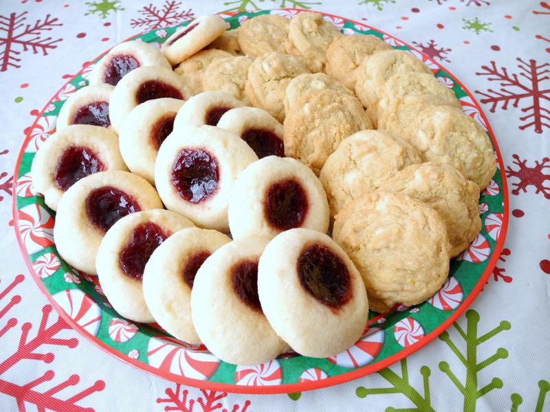 Jam Thumbprints and White Chocolate Orange Dream Cookies