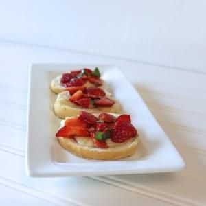 Strawberry Crostini