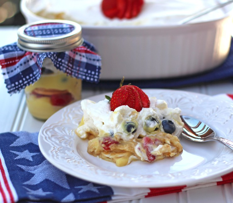 Berry Icebox Cake for the Fourth of July