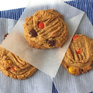 Peanut Butter Cookies with Reese's Pieces #fillthecookiejar