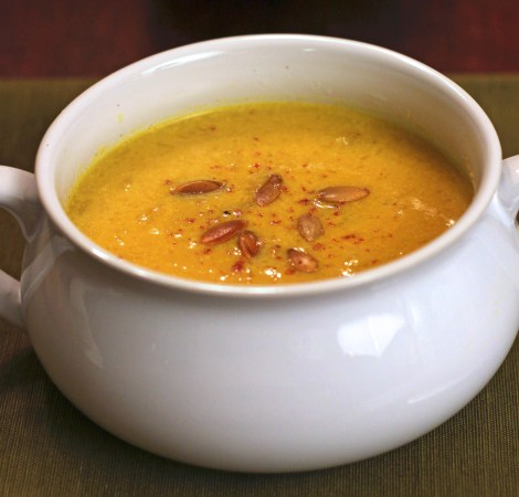 Creamy Curried Pumpkin Soup